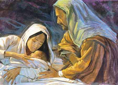 baby Jesus and Mary