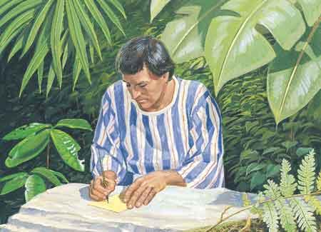 Alma writing