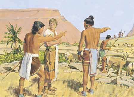 Ammon talking to servants