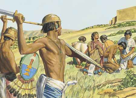 Lamanites coming and people praying