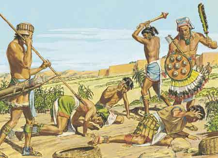 Lamanites killing people of Ammon