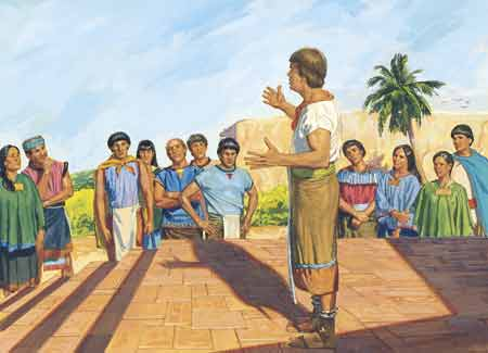 missionary teaching poor people