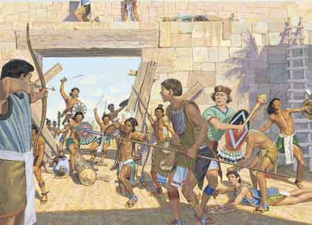 Lamanites attacking city