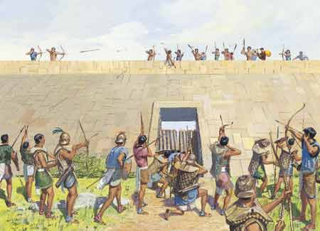 fighting at city wall