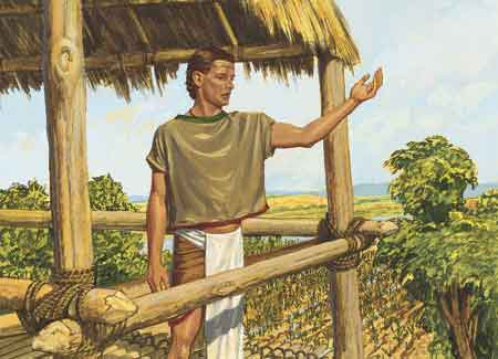 Nephi talking to people