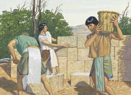 Nephites working
