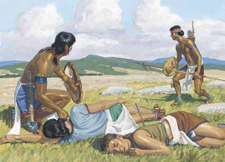 Lamanites attacking Nephites