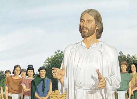 Jesus talking to disciples