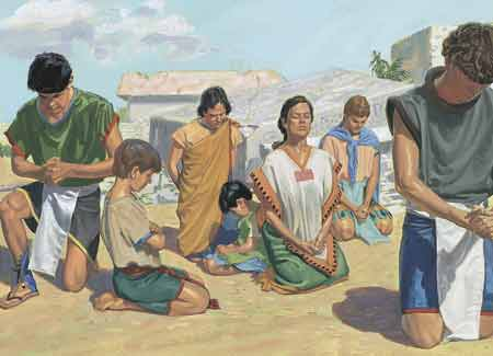Nephites praying