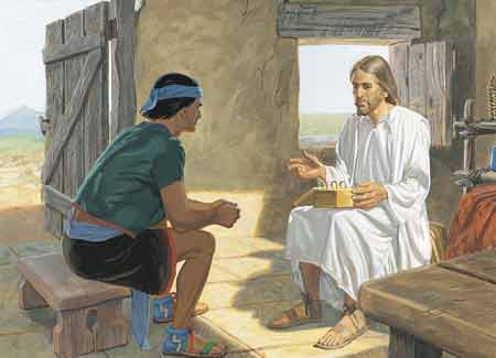 Christ talking to Nephi