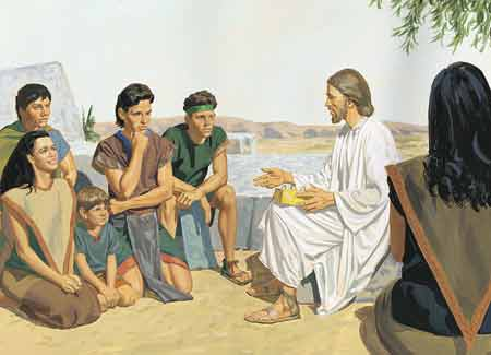 Jesus teaching from scriptures