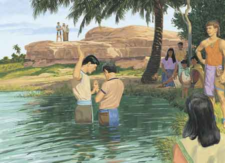 man being baptized