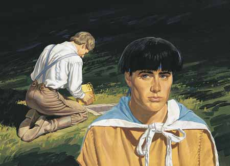 Moroni seeing Joseph Smith