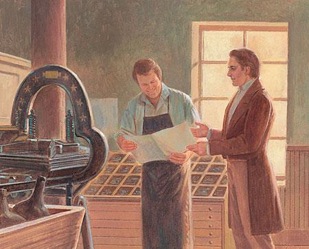 Joseph with printer