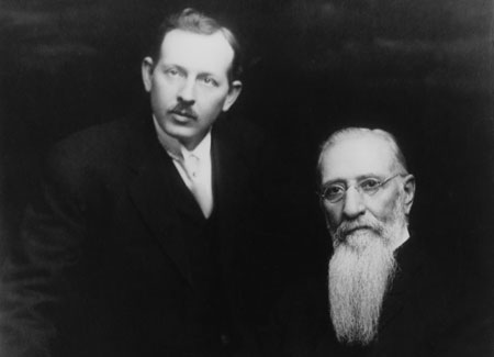President Joseph F. Smith with his son Joseph Fielding Smith