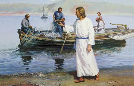 Christ calling apostles