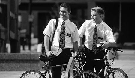 missionaries with bikes