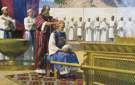 Moses calls Aaron the the ministry