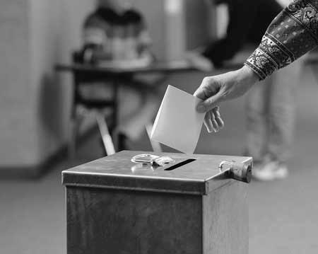 Casting a ballot