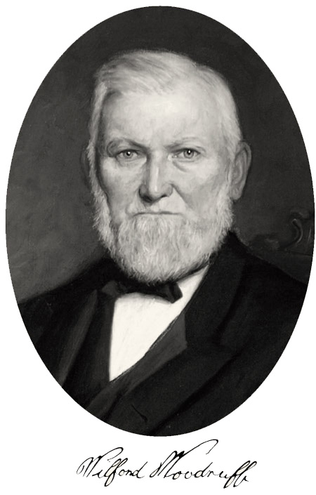 Wilford Woodruff portrait and signature