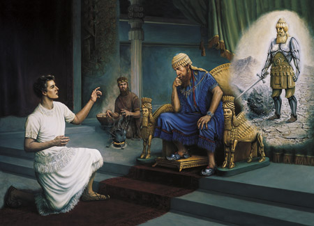 Daniel interpreting the king's dream