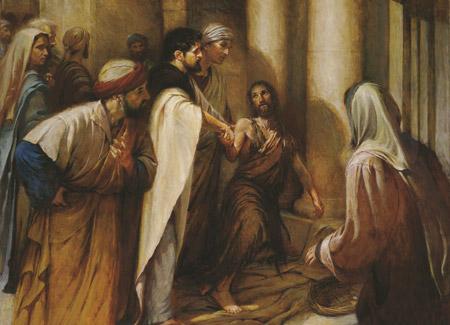 Apostles healing a lame man