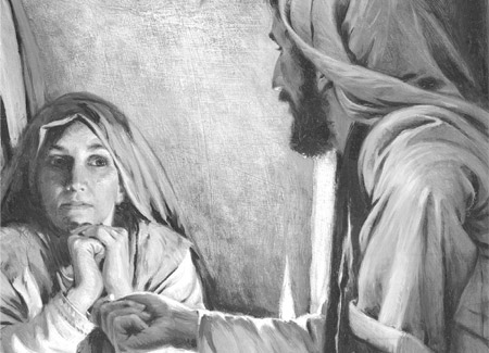Jesus teaching Mary