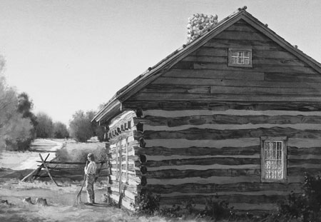 The home of Joseph Smith, Jr. near the time of the First Vision in 1820.