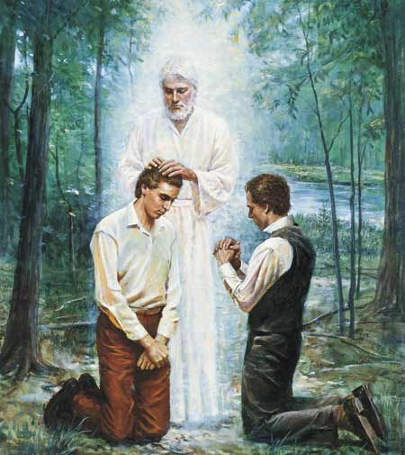 The Restoration of the Aaronic Priesthood..