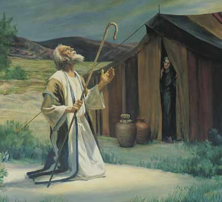 The Lord appears to Abraham at his tent door.