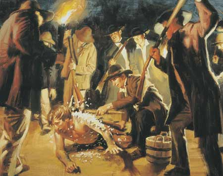 The Prophet Joseph Smith was brutally attacked for his beliefs.
