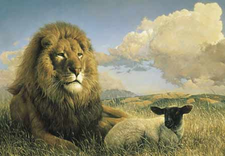 How blessed the day when the lamb and lion shall lie down together without any ire.