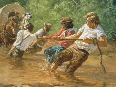 The Prophet lead by example during Zion's Camp.