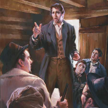 Guards are rebuked by Joseph Smith.