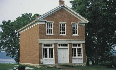 The Red Brick Store was the office, business of the Prophet Joseph in Nauvoo.