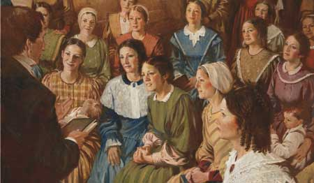 The Relief Society was organized in Nauvoo on March 17, 1842.