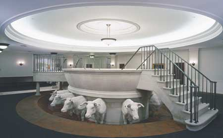 Proxy baptisms for the dead begin in the basement of the Nauvoo Temple even before temple construction was finished.