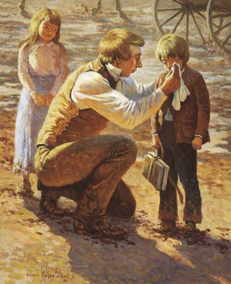 Like Jesus, Joseph Smith took time to help children.