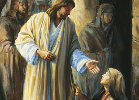 Christ blessing woman