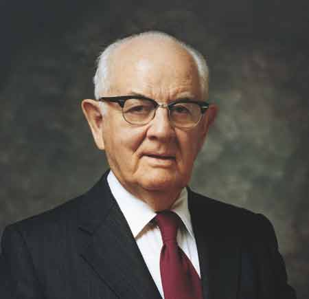 Spencer W. Kimball, 12th President of the Church of Jesus Christ of Latter-Day Saints.