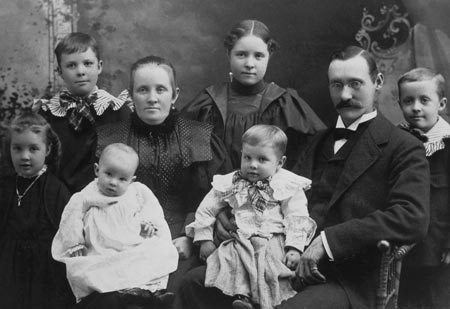 Spencer W. Kimball's family in 1897.