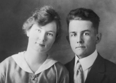Camilla and Spencer Kimball circa 1918.