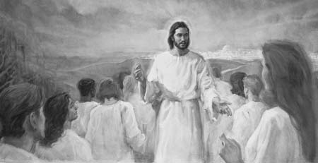 Jesus Christ teaches at the temple