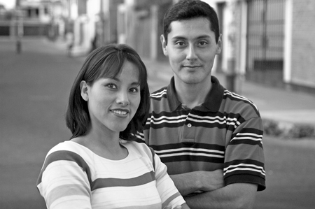 Couple on street