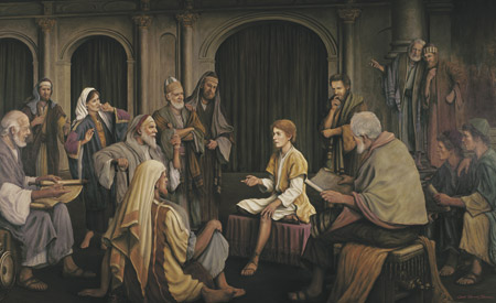 Christ teaching in the temple as a boy