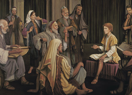 Christ in the temple as a boy