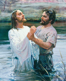 John the Baptist baptising Christ