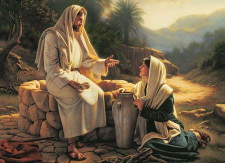 Christ teaching at the well