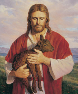 Christ carrying lamb