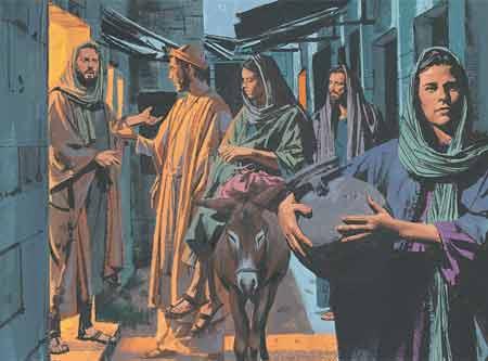 Joseph and Mary travel